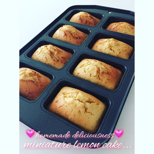 CHEAT version of Miniature Lemon Loaf Cake 💗